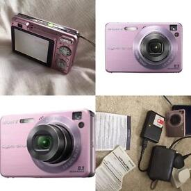 Pink Sony cyber shot camera