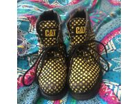 Unique CAT/ Caterpiller boots size 4