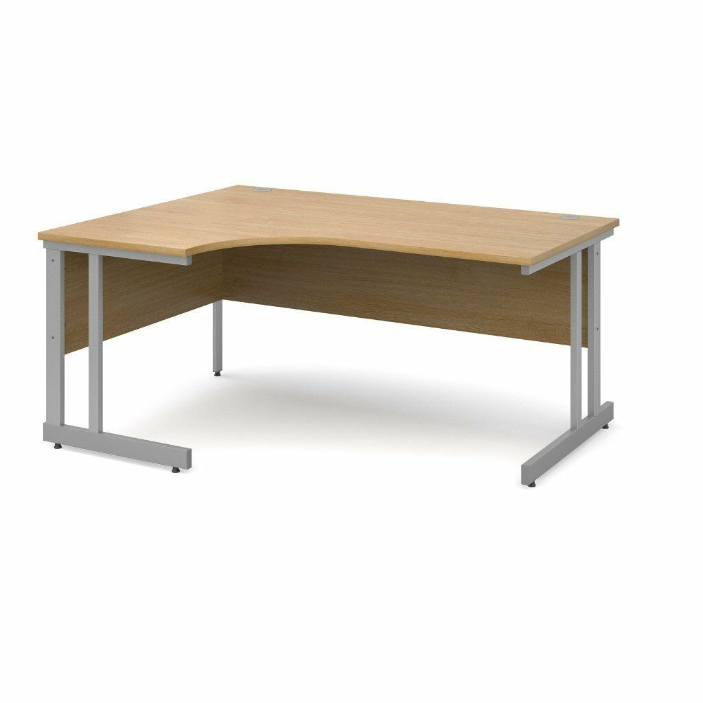 Corner Office Desk In Beech, Walnut ,Left Hand