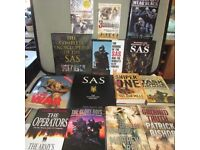 Great Collection of SAS, Gulf War, Military, Sniper, Army and SO19 Books