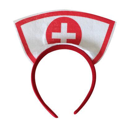 Halloween Party Kostüm Zubehör Krankenschwester Stirnband mit rot Kreuz