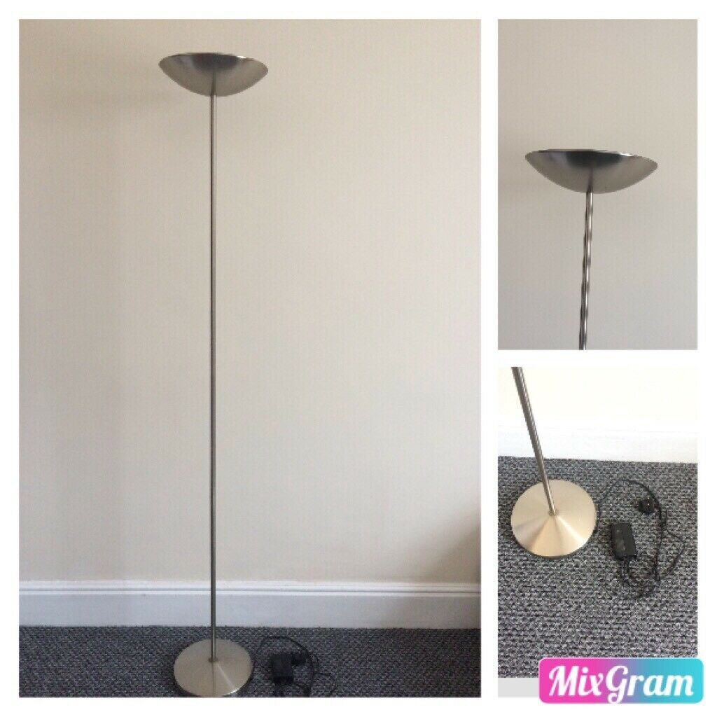 Chrome Modern Uplighter Dimming Floor Lamp Upright Pole Light In Leicester Leicestershire Gumtree