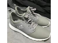 Emporio Armarni Grey/White Trainers - Size 8