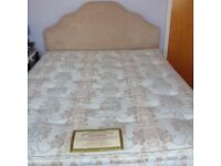King size bed very good condition complete with headboard.