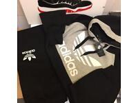 Men's adidas tracksuits black
