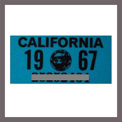 1967 California Yom Dmv Motorcycle License Plate Sticker   Tag Ca   1963 Plate