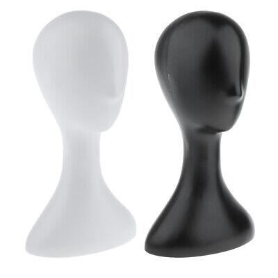 2x Mannequin Manikin Head Model For Wig Hat Scarf Display Holder White Black