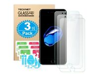 NEW: iPhone 8 Plus Screen Protector [3 Pack] 3D Touch Compatible Tempered Glass Screen Protector