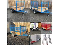 Good Range of Car Trailers and Ramps in Stock ( tractor trailer power washer quad lawnmower )