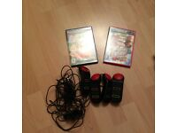 PlayStation 2 Buzz Music Quiz and Jungle Party Games with 4 buzzers.