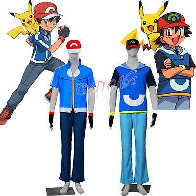 Cafiona Pocket Monsters Pokemon Ash Ketchum Cosplay Costumes Halloween Hot Sale