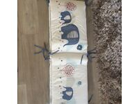 New with tags cot bumper from verbaudet. 360vm X 30cm fits around whole cot