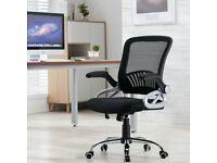 Computer Chair Home Office Luxury Mesh Back Adjustable Height Laptop Swivel UK