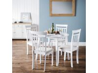 Ex-Display Julian Bowen Coast Dining Table & 4 Dining Chairs **CAN DELIVER**