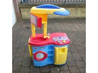 Colourful play kitchen
