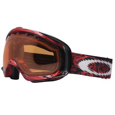 Oakley 01-848 Crowbar Seth Morrison Red Skulls Persimmon Mens Snow Ski Goggles .