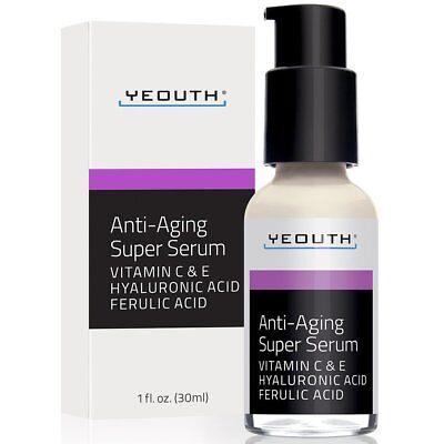 Yeouth - Anti-Aging Super Serum, Ferulic Acid, Hyaluronic Ac