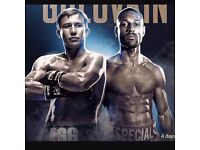 2 x Golovkin v Brook boxing tickets 10 September 2016