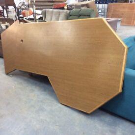 Oak edged office table