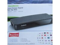 goodmans freeview box complete with remote mains plug boxed fully working order