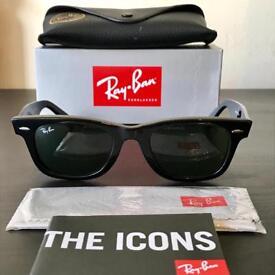 Ray ban 5022 gloss black g-15 sun glasses- free postage