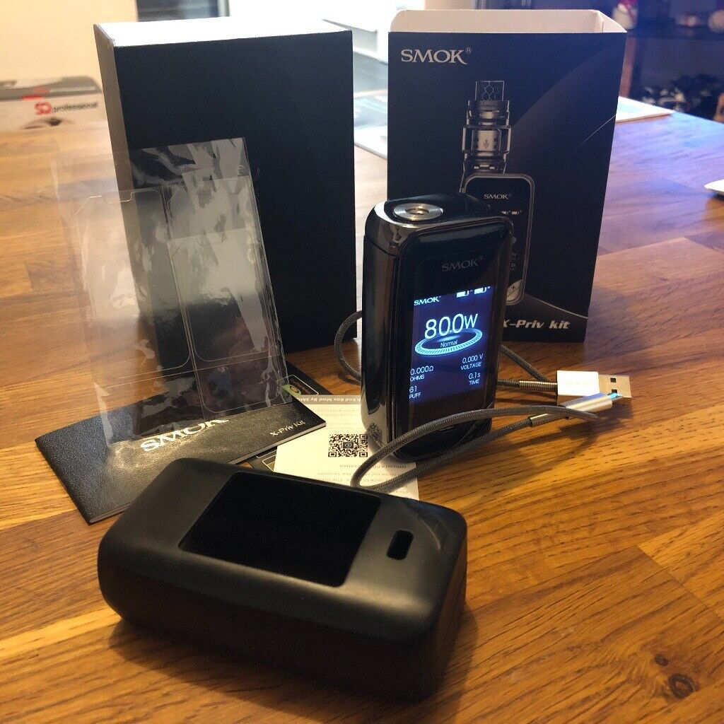 *Genuine* Smok X-Priv Gun Metal Grey mod only, boxed with 3 screen  protectors and case vape | in Shepherds Bush, London | Gumtree