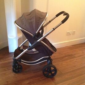 Icandy strawberry pram and pushchair in earl grey