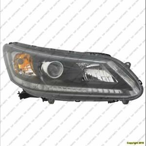 Head Lamp Passenger Side Sedan Halogen Ex/Lx/Sport Models/2.4 Liter Ex-L Honda Accord 2013-2015