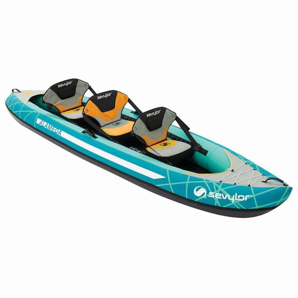 Seyvlor Alameda 3 seater inflatable kayak 2019 model used once only | in  Helston, Cornwall | Gumtree