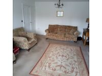 Very expensive three piece suite.sofa and two chairs( will split)