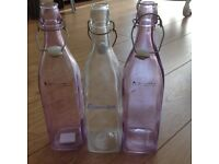 Glass water bottles / table drink bottles
