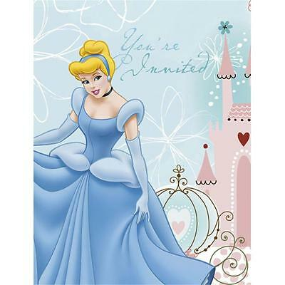 Cinderella Dreamland Invitations & Envelopes 8 Count Birthday Party Supplies New - Cinderella Birthday Invitations