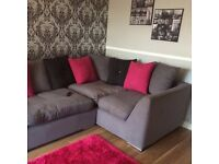 Grey Corner Sofa Bed for Sale in Royston - Orig: £2000; Now: £700