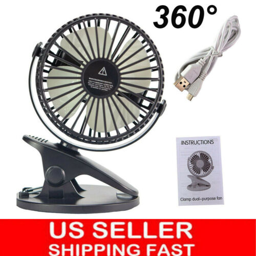 Black Portable Electric Cooling Fan with USB Oscillating  Cl