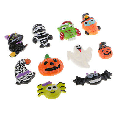 Cute Diy Halloween Decorations (DIY 10 Cute Halloween Resin Flatback Cabochon Scrapbooking/Craft)