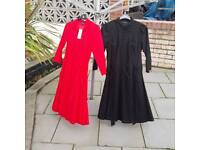 Ladies casual dresses size red 12 black size 14 warehouse