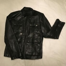 Jack Doyle black leather jacket