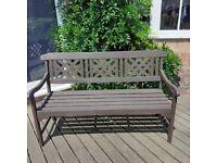 "Solid garden Bench, ex. condition , recently cuprinoled"""