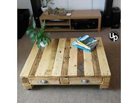 Reclaimed Wood Coffee Table Pallet Coffee Table Rustic Loft Chic. 4 drawers