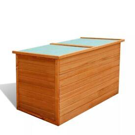 Garden Storage Box 126x72x72 cm Wood-42702