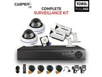 CCTV 4CH DVR Camera Security kit 1080p HD Bullet and Dome Cameras IR In/Outdoor
