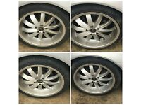 """235-40-18"""" Saab 9-3 Four Alloy Wheels and Tyres Set of Four"""