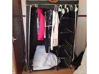 Foldable wardrobe black used vonhaus domu