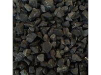Decorative Aggregates - Black Basalt (25kg Bags)