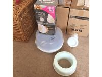 Baby/ nursing items - steriliser, breads pads, new breast pump
