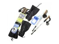 2 X Walking Poles, Waterproof Gaiters, Waterproof Pouch Hiking Pack Brand New In Pack