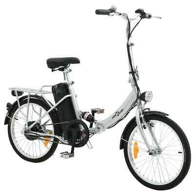 vidaXL Bicicleta eléctrica plegable de aleación de aluminio batería litio-ion