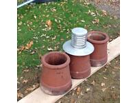 Clay chimney pots & cowl