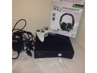 Xbox 360 x2 wireless controllers and turtle beach headset