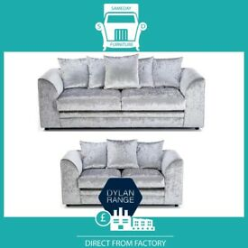 🛵DOPE New🛵2 Seater £169 3 Seater £195 3+2 £295 Corner Sofa £295-Crushed Velvet Jumbo Cord Brand
